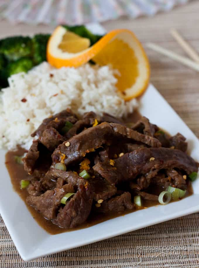 Pressure Cooker (Instant Pot) Spicy Orange Beef