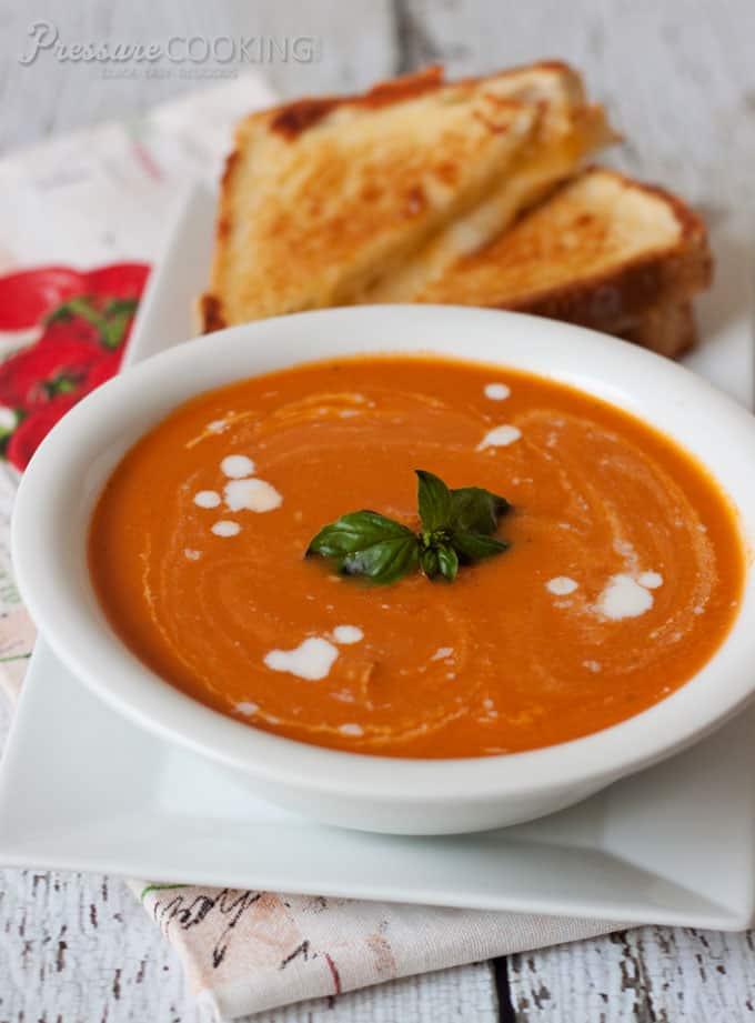 Pressure Cooker Creamy Tomato Basil Parmesan Soup recipe from Pressure ...