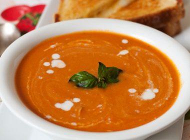 Pressure Cooker (Instant Pot) Creamy Tomato Basil Parmesan Soup