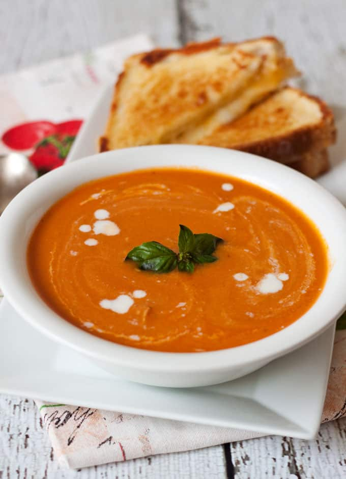 Fresh Creamy Tomato Basil Parmesan Soup recipe from Pressure Cooking ...