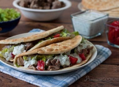 Pressure Cooker (Instant Pot) Greek Tacos
