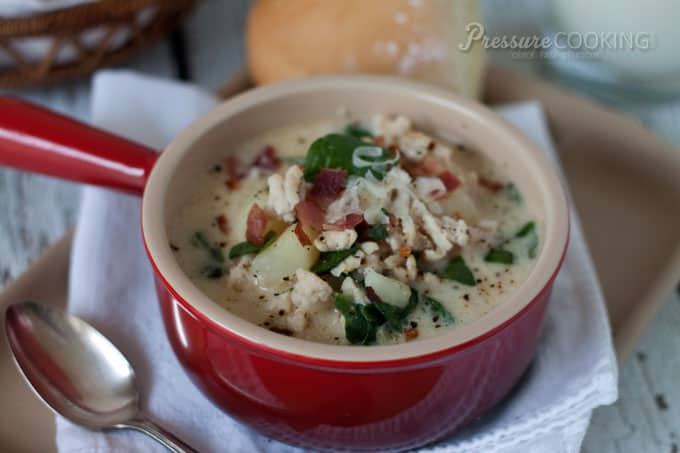 Pressure Cooker Zuppa Toscana from Pressure Cooking Today