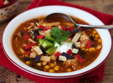 Quick and Easy Pressure Cooker (Instant Pot) Chicken Enchilada Soup