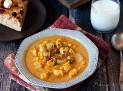 Pressure Cooker (Instant Pot) Pumpkin Chicken Corn Chowder