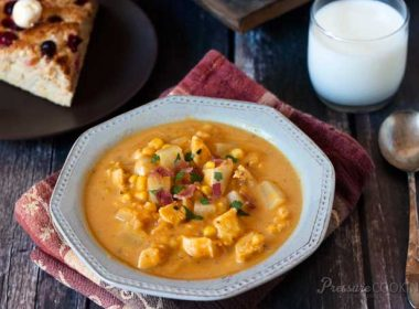 Pressure Cooker (Instant Pot) Pumpkin Chicken Corn Chowder