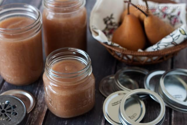 Pressure Cooker Pear Applesauce from Pressure Cooking Today