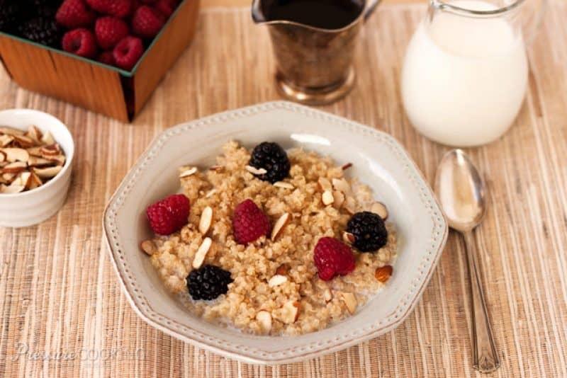 Pressure Cooker (Instant Pot) Breakfast Quinoa