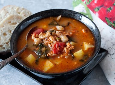 Pressure Cooker (Instant Pot) Chorizo, Chicken and Kale Soup