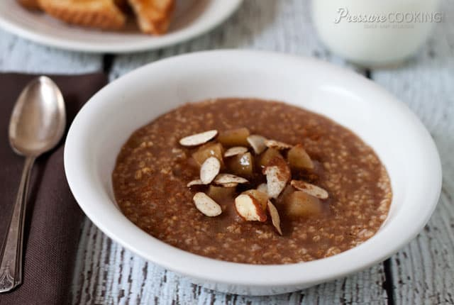 Pressure Cooker Cinnamon Apple Steel Cut Oats recipe