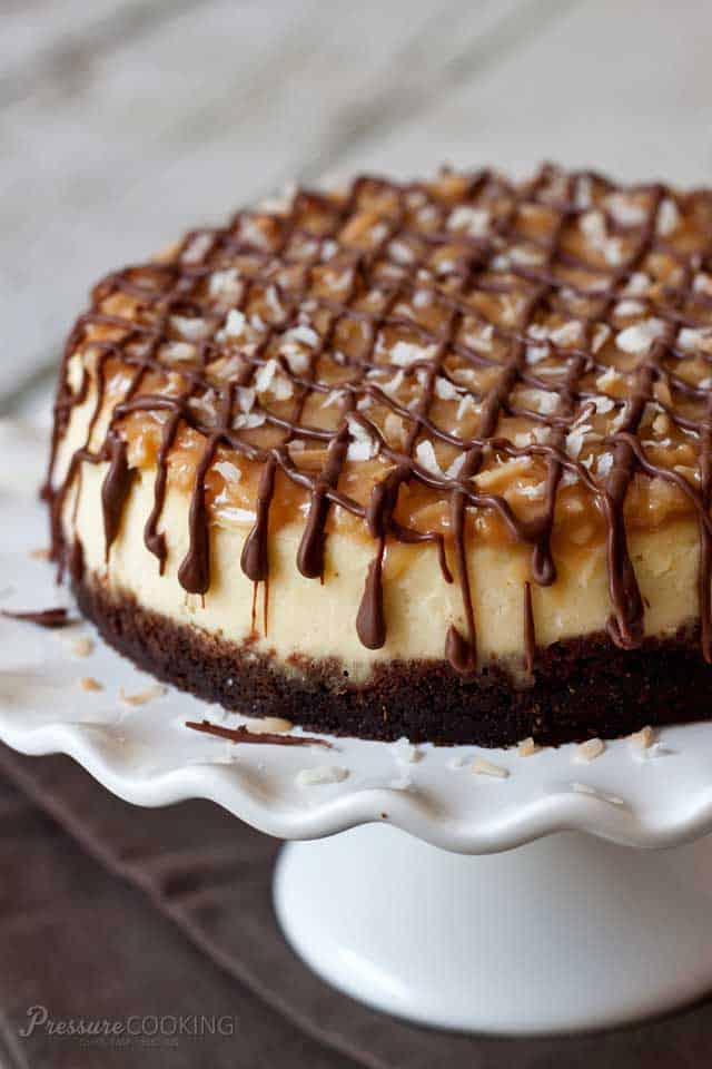 Pressure Cooker Instant Pot Samoa Cheesecake