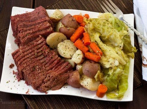Pressure Cooker (Instant Pot) Corned Beef and Cabbage
