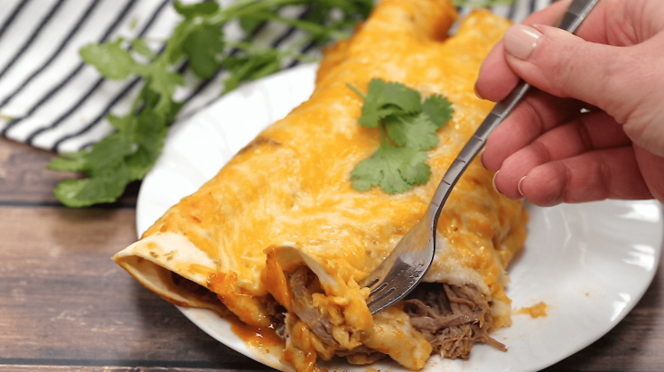 Pressure Cooker Shredded Beef Enchiladas