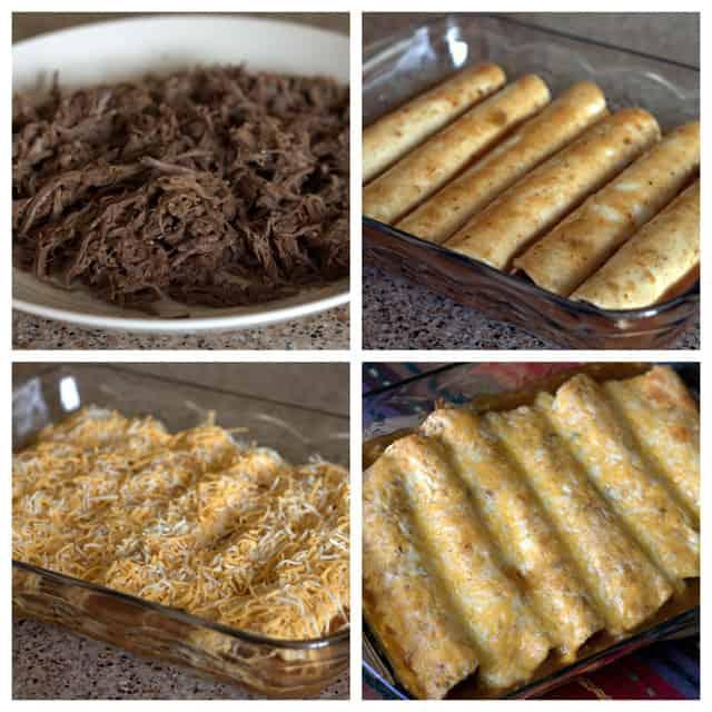 Making Pressure Cooker Shredded Beef Enchiladas