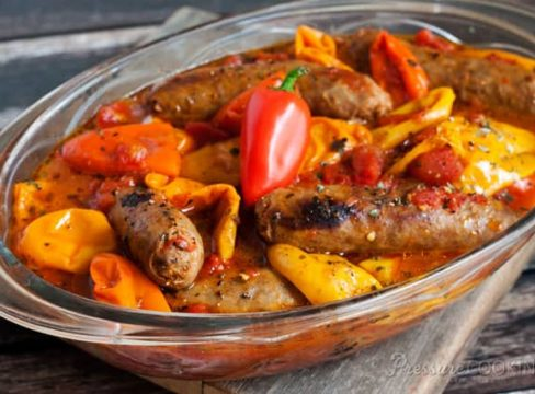 Teri's Pressure Cooker (Instant Pot) Sausage and Peppers