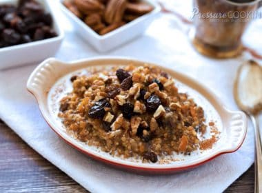 Pressure Cooker (Instant Pot) Carrot Cake Oatmeal