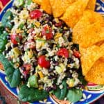 Pressure Cooker Spicy Brown Rice Black Bean Salad