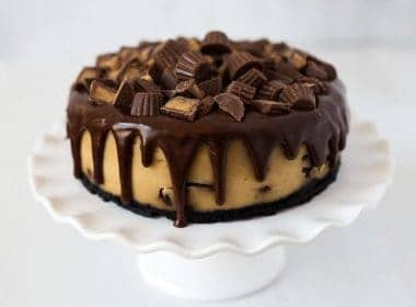 Peanut Butter Cup Cheesecake made in an Instant Pot or pressure cooker
