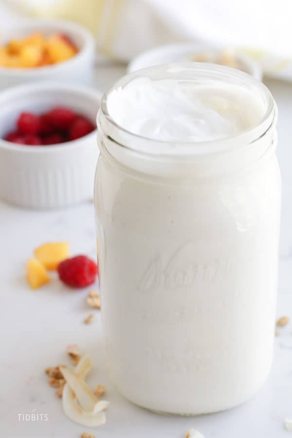 Pressure cooker yogurt recipe, made in an Instant Pot