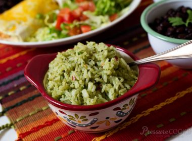 Pressure Cooker (Instant Pot) Mexican Green Rice