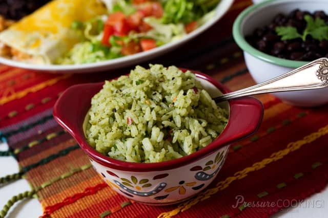 Cooker Mexican Green Rice made with avocado, cilantro, and green ...