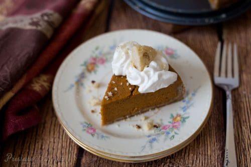 Pressure Cooker (Instant Pot) Pumpkin Pie