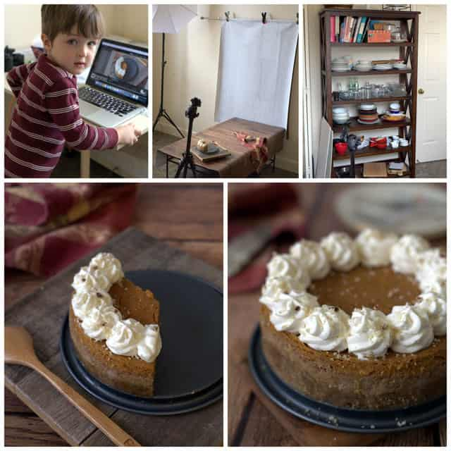 Photographing Pressure Cooker Pumpkin Pie