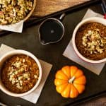 Pressure Cooker Pumpkin Steel Cut Oats with Pecan Pie Granola