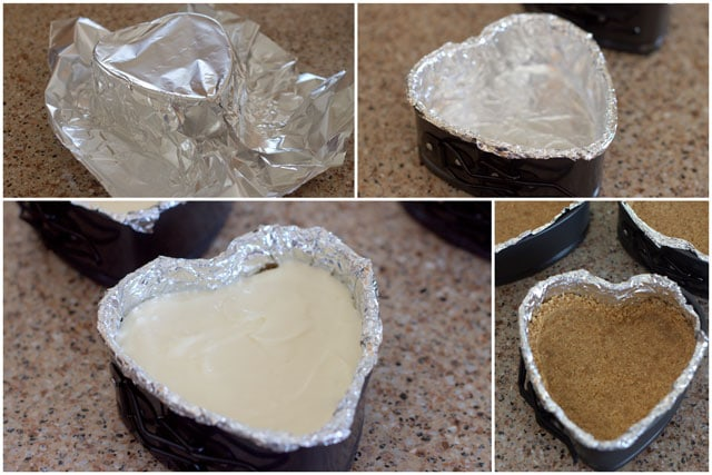 Making Pressure Cooker Heart Shaped Cheesecake