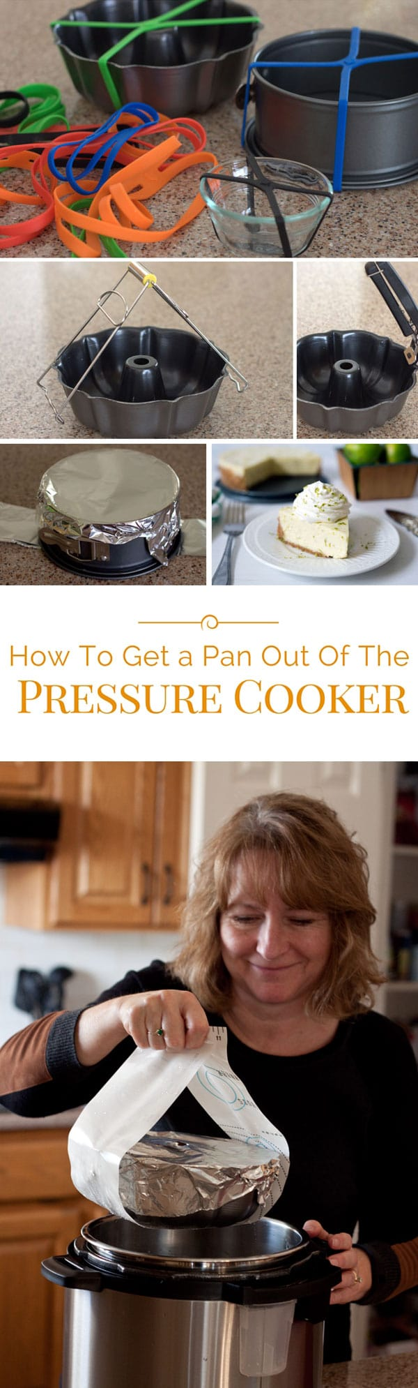 Need to know how to get a pan out of the pressure cooker? Using electric pressure cookers and multi-cookers like an Instant Pot is easy, and removing a pan from a pressure cooker is easy, too!