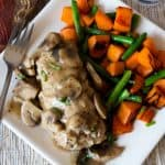 Pressure Cooker Mini Cheese Stuffed Turkey Meatloaves with Mushroom Gravy