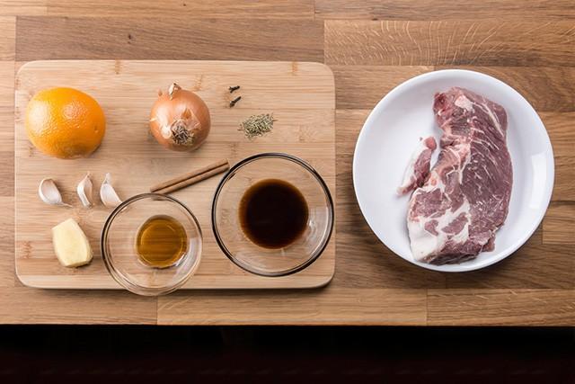 Making Pressure Cooker Honey Orange Pork