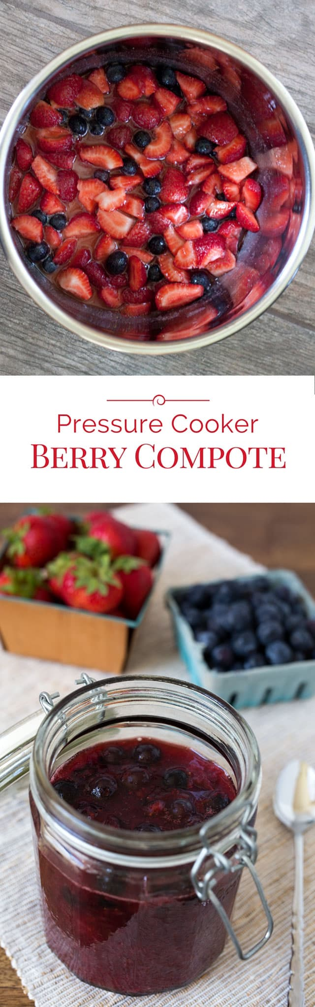 titled photo collage - Pressure Cooker Berry Compote