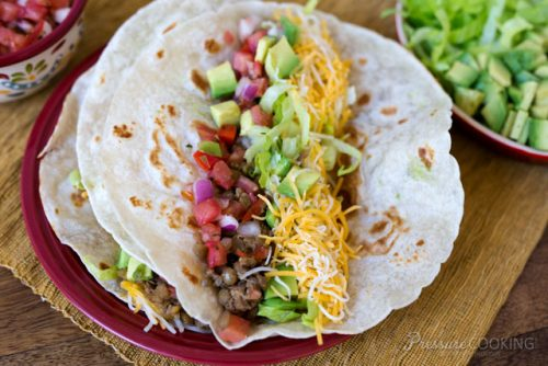 Pressure Cooker (Instant Pot) Turkey Lentil Taco Filling