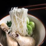 Pressure Cooker Bok Choy Chicken Soup Noodles