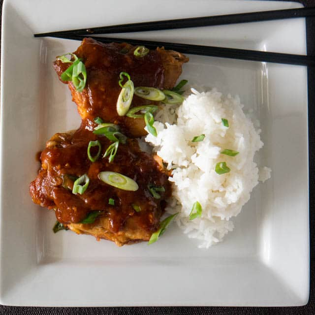 Delight your taste buds with the umami, sweet, and spicy flavors in this Korean-style chicken dish. It's quick and easy enough for a weeknight, and exotic enough to steal the show at your next dinner party!