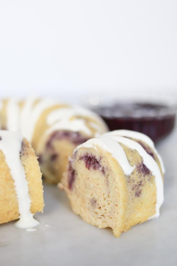 Pressure Cooker Berries and Cream Breakfast Cake. Healthy and wholegrain breakfast.