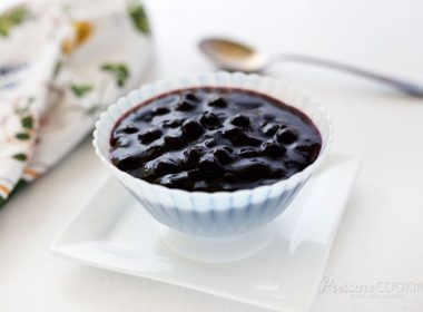 Pressure Cooker (Instant Pot) Blueberry Compote