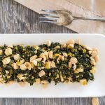 Pressure Cooker Kale with Baked Tofu