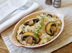 Pressure Cooker (Instant Pot) Savory Mushroom Thyme Oatmeal