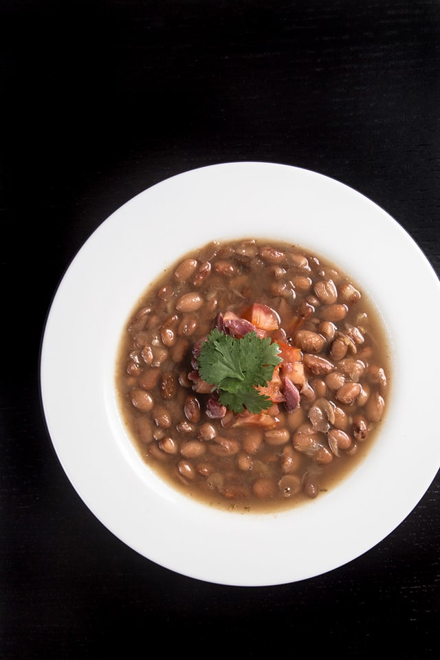 Pressure Cooker Smoky Ham Hock and Pinto Bean Soup full of textures ...