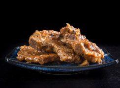 platter of Pressure Cooker (Instant Pot) Maple Dijon Mustard Pork Chops