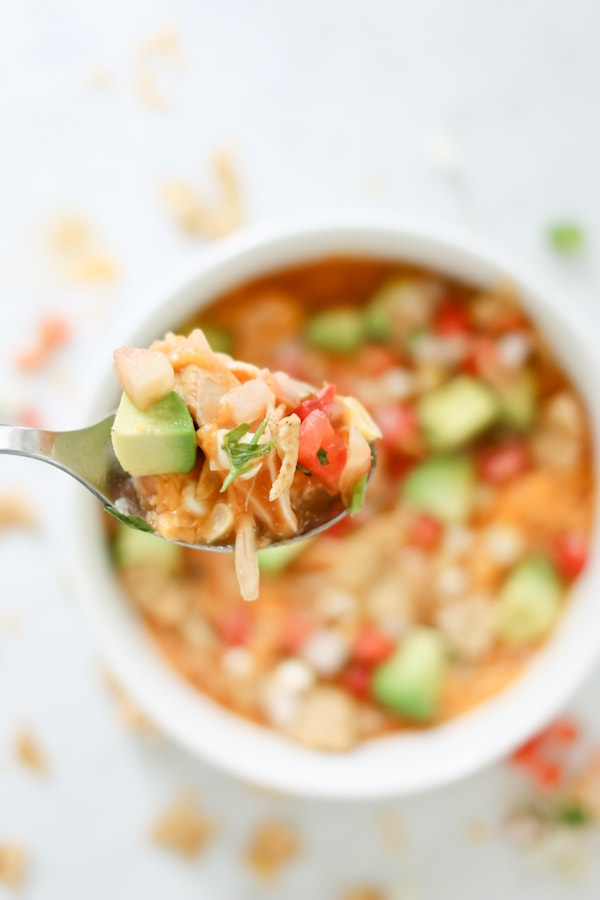 Pressure Cooker Creamy Enchilada Soup