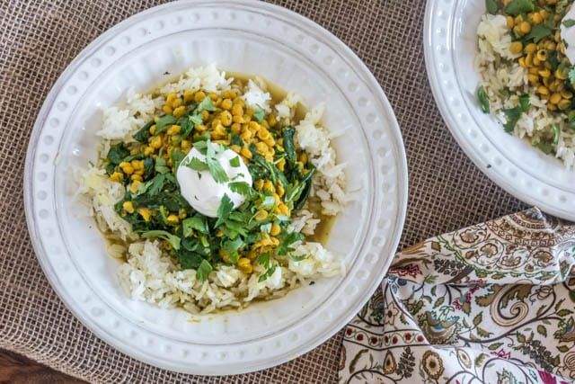 Pressure Cooker (Instant Pot) Dal With Spinach