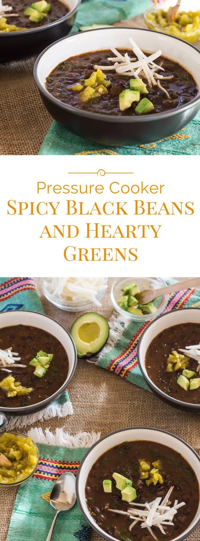 Perfectly spiced with smoky chipotle chiles, mild tomato salsa, and green chiles, and rounded out with an ample helping of leafy greens–well, these beans are not only delicious; they're good for you.