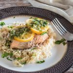 Pressure Cooker Salmon and Rice