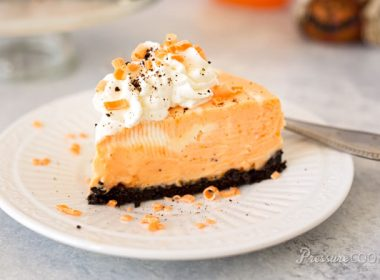 Pressure Cooker (Instant Pot) Orange Marble Cheesecake