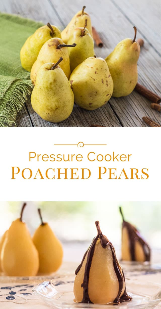 pressure-cooker-poached-pears-with-chocolate-photo-collage