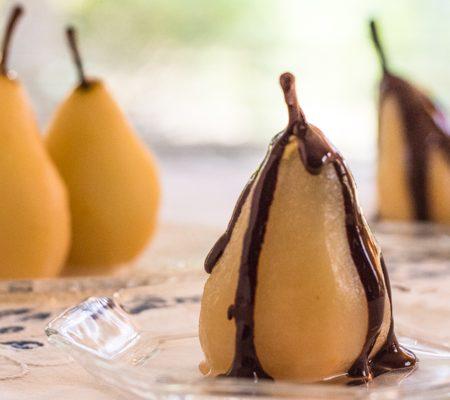 Pressure Cooker Cinnamon Poached Pears