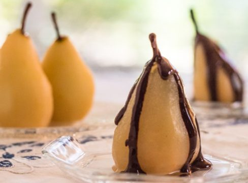 Pressure Cooker Cinnamon Poached Pears