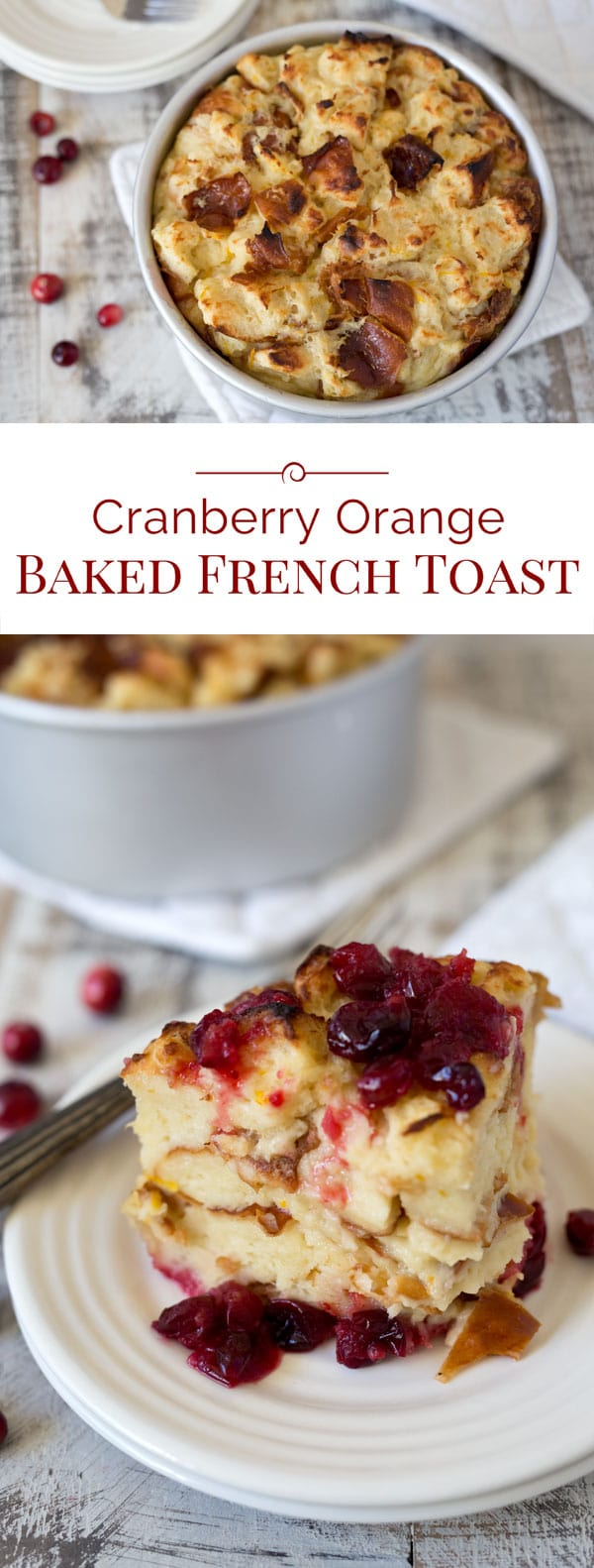 "This luscious Pressure Cooker Cranberry Baked French Toast is a perfect holiday breakfast. Tart fresh cranberries in a sweet orange sauce are topped with cubed Challah bread soaked in butter, milk, and eggs, and then ""baked"" to create a bread pudding style French Toast."